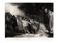 George Romney - William Shakespeare - The Tempest Act I, Scene 1 Fine-Art Print