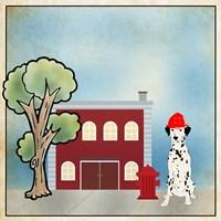 Dalmation Firehouse Fine-Art Print