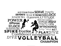 Volleyball Text Fine-Art Print