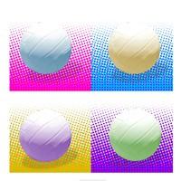 Volleyball Pop Squares Fine-Art Print