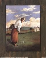 Victorian Golfer - Woman Fine-Art Print