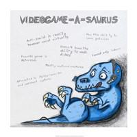 Videogame A Saurus Fine-Art Print