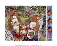 Bunnies Dining Fine-Art Print