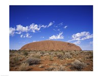 Rock formation, Ayers Rock, Uluru-Kata Tjuta National Park, Australia Fine-Art Print