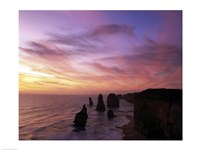 Eroded rocks in the ocean, Twelve Apostles, Port Campbell National Park, Victoria, Australia Fine-Art Print