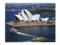 High angle view of an opera house, Sydney Opera House, Sydney, Australia Fine-Art Print