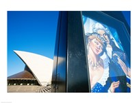 Poster in front of an opera house, Sydney Opera House, Sydney, Australia Fine-Art Print