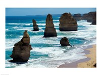 Rock formations on the coast, Twelve Apostles, Port Campbell National Park, Victoria, Australia Fine-Art Print