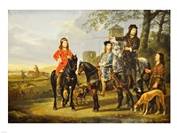 Aelbert Cuyp, Starting For  the Hunt Crop Fine-Art Print