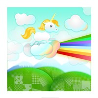 Rainbow Guide Unicorn Fine-Art Print