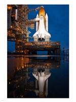 Atlantis STS-135 Rainwater Reflection on Pad Fine-Art Print