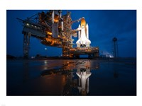 Brightly Lit Atlantis STS-135 on Launch Pad Fine-Art Print