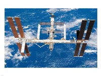International Space Station moves away from Space Shuttle Endeavour Fine-Art Print