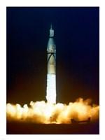 Launch of Jupiter C with Explorer Fine-Art Print