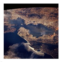 San Francisco taken from space by shuttle columbia Fine-Art Print