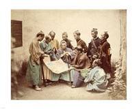 Satsuma samurai during boshin war period Fine-Art Print