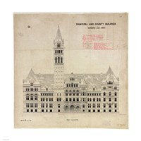 Municipal and County Buildings Toronto July 1887 Fine-Art Print