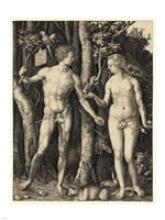 Adam and Eve in the garden Fine-Art Print
