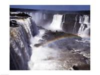 Rainbow over a waterfall, Devil's Throat, Iguacu Falls, Iguacu River, Parana, Brazil Fine-Art Print