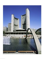 Low angle view of a building on the waterfront, Toronto, Ontario, Canada Fine-Art Print