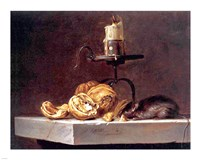 Willem Van Aelst  Still Life with Mouse and Candle Fine-Art Print