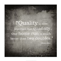Quality is more important Fine-Art Print
