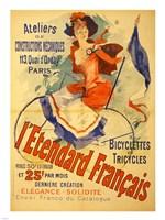 I'Etendard Francais Bicyclettes Fine-Art Print