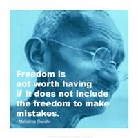 Gandhi - Freedom Quote Fine-Art Print