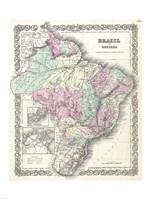 1855 Colton Map of Brazil 1855 Fine-Art Print