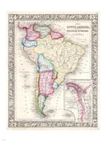 1864 Mitchell Map of South America Fine-Art Print