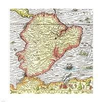 Map of South America 1575 Fine-Art Print