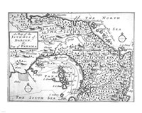 Map of the Isthmus of Darien and Panama Fine-Art Print