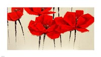 Abstract Red Poppies Fine-Art Print