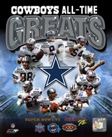 Dallas Cowboys All Time Greats Composite Fine-Art Print