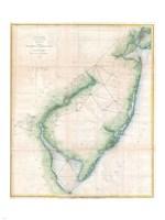 1873 U.S. Coast Survey Chart NJ and the Delaware Bay Fine-Art Print