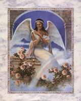 Black Angel with Rainbow Fine-Art Print