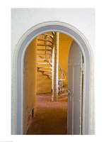 Spiral Stairs in Absecon Lighthouse Museum, Atlantic County, Atlantic City, New Jersey, USA Fine-Art Print