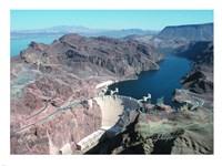 Hoover Dam aerial view Fine-Art Print