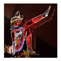 Glitter Girl neon sign at the Freemont Street Experience Fine-Art Print