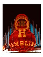 Neon gambling sign on Freemont Street in historic Las Vegas Fine-Art Print