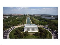 Ariel view of the Lincoln Memorial Fine-Art Print