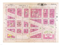 1909 map of Downtown Washington, D.C. Fine-Art Print