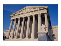 Facade of the U.S. Supreme Court, Washington, D.C., USA Closeup Fine-Art Print