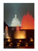 Capitol Building Washington, D.C. (fountains) Fine-Art Print