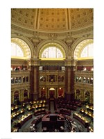 Main Reading Room Library of Congress Washington, D.C. USA Fine-Art Print