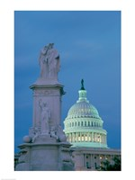 Peace Monument Capitol Building Washington, D.C. USA Fine-Art Print