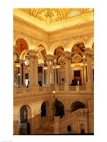 USA, Washington DC, Library of Congress interior Fine-Art Print
