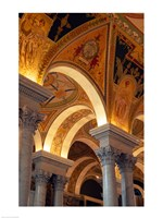Interiors of a library, Library Of Congress, Washington DC, USA Fine-Art Print