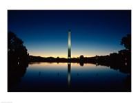 Reflection of an obelisk on water, Washington Monument, Washington DC, USA Fine-Art Print