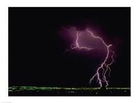 Lightning over a city Fine-Art Print